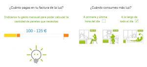 autoconsumo coste medio mensual electricidad