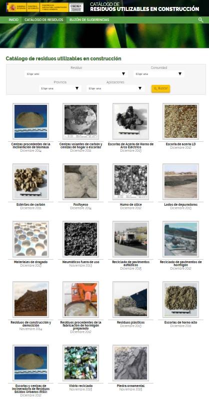 residuos de construccion y demolicion catálogo