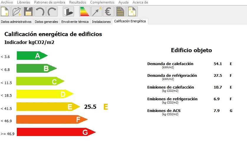 ahorro de energía calificación energética