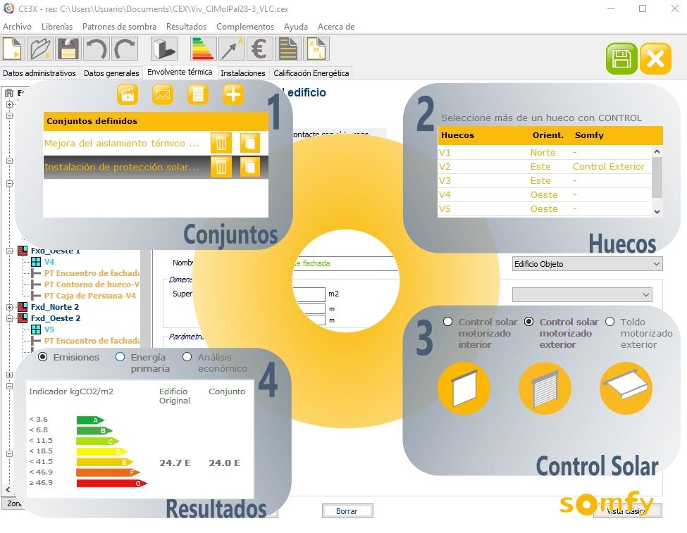 ventana proteccion solar automatizada