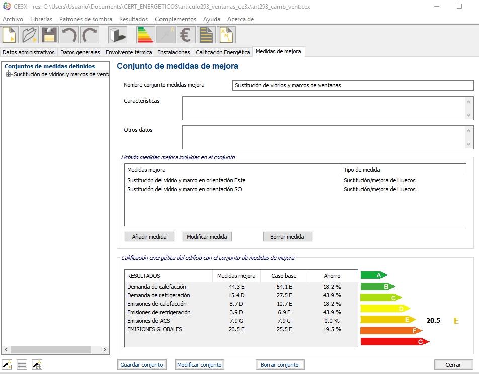 ahorro de energía mejoras CE3X