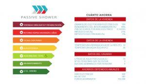 ahorrar agua passive shower