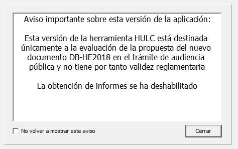HULC 2018 herramienta unificada revisada