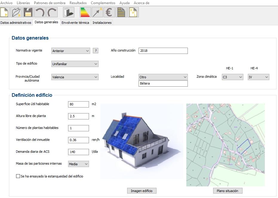 certificar edificios nuevos con CE3X complemento