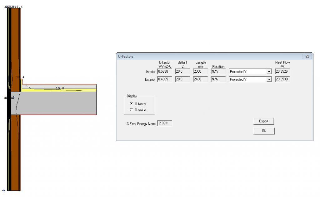 guia para calcular un puente térmico U factor