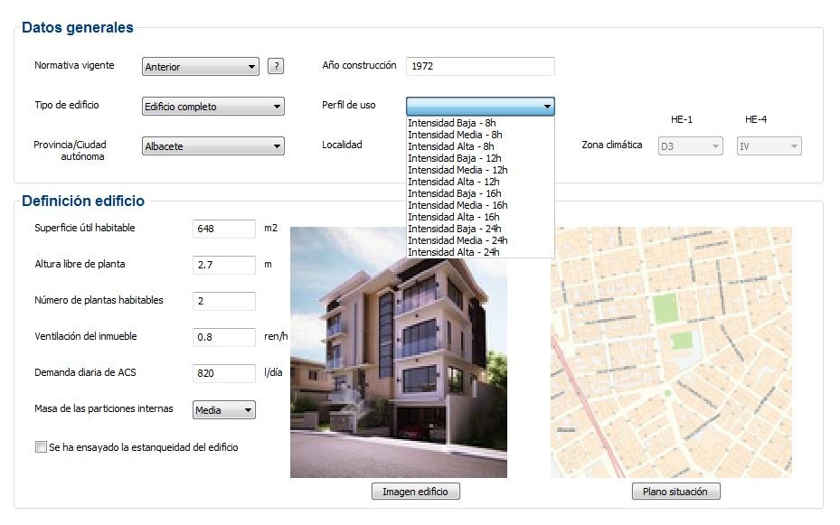cargas internas certificado perfil de uso edificio