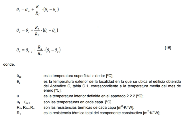 factor de resistencia a la difusión del vapor de agua temperaturas