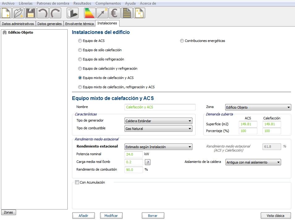 Aerotermia en CE3X equipo mixto calefaccion ACS