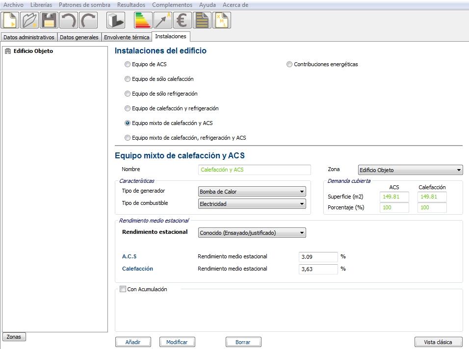 Aerotermia en CE3X rendimiento medio estacional