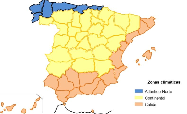 instalaciones termicas zonas climaticas