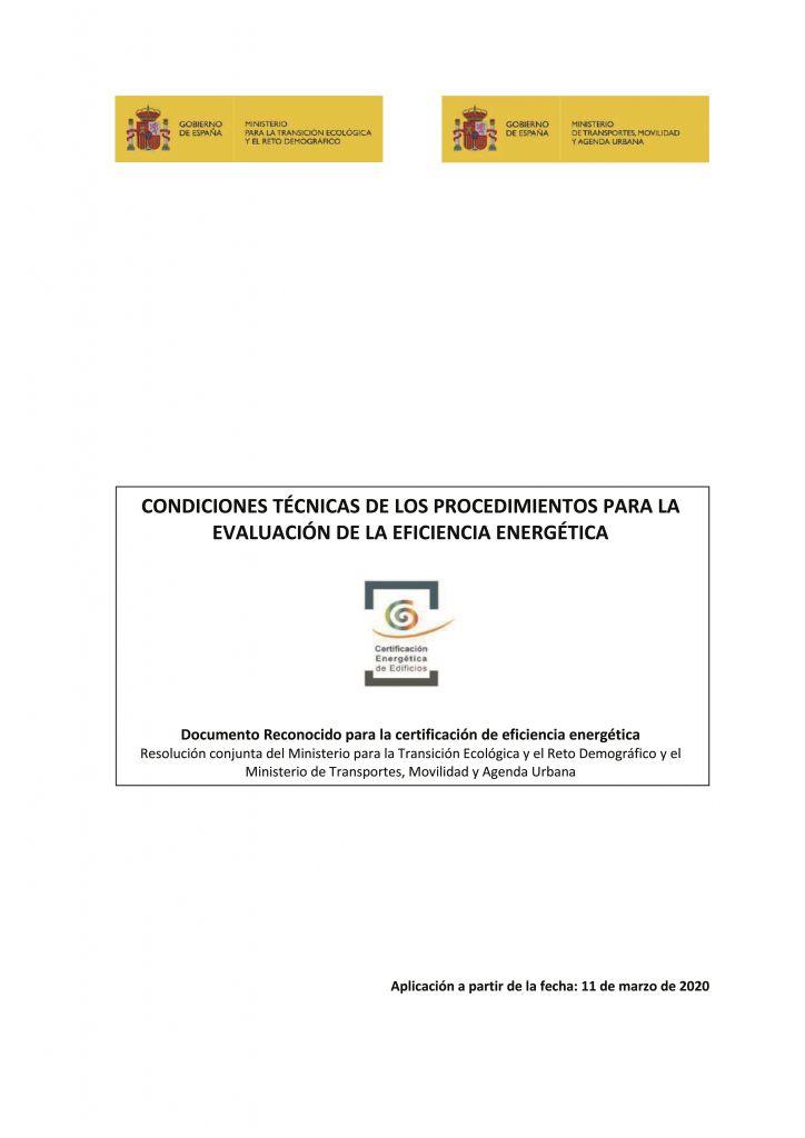documentos reconocidos modificados condiciones tecnicas