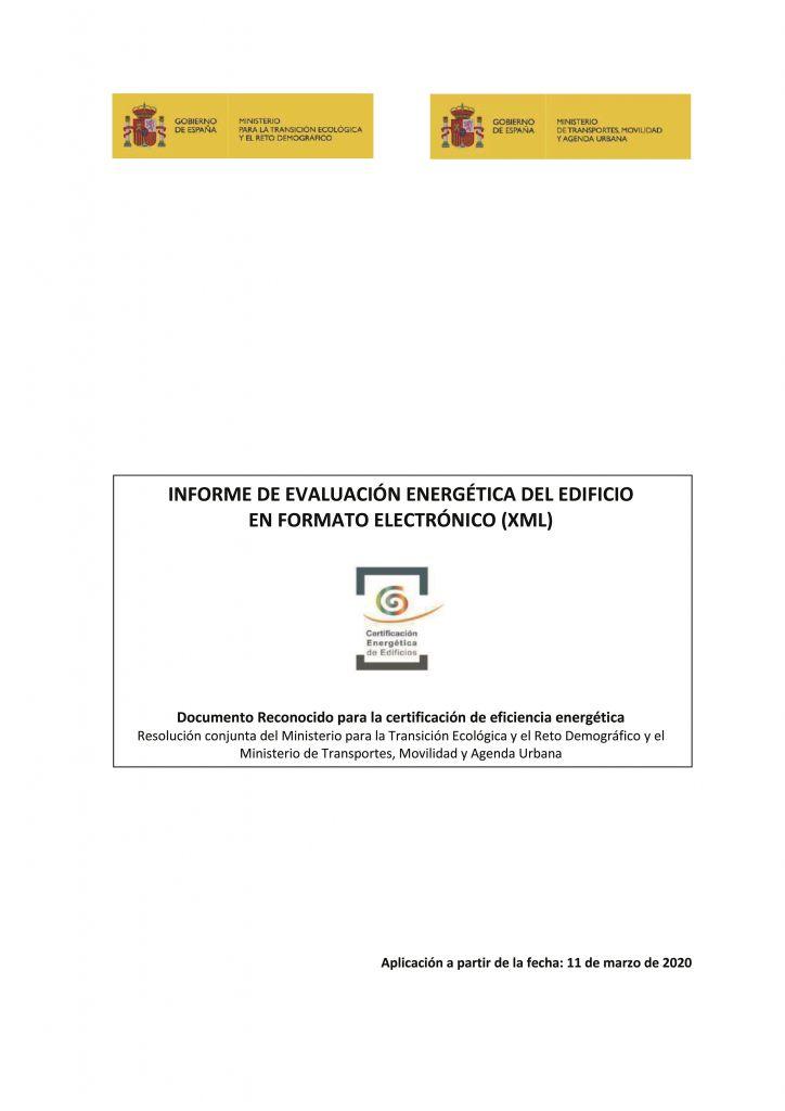 documentos reconocidos modificados informe evaluacion energetica