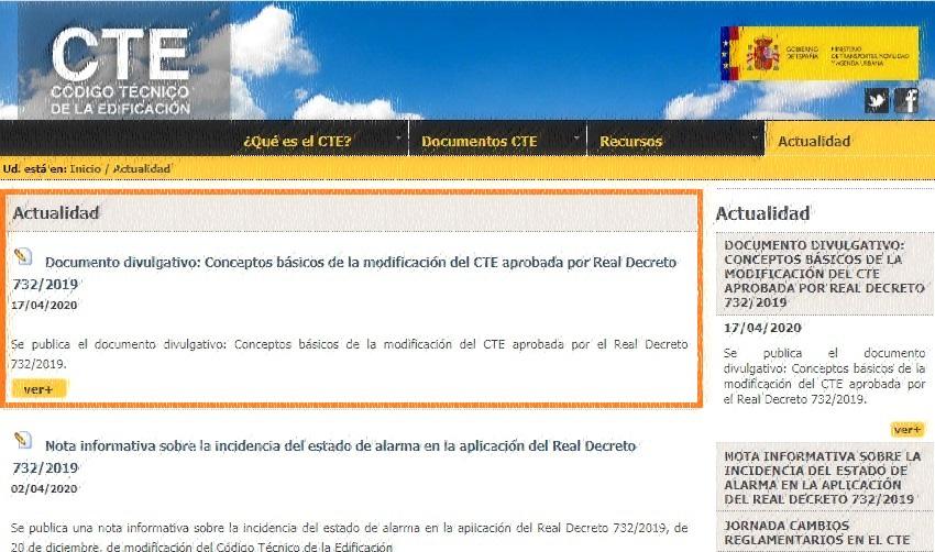 nuevo CTE documento divulgativo conceptos básicos