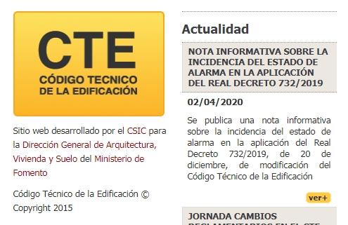 moratoria aplicación nuevo HULC 2019 CTE