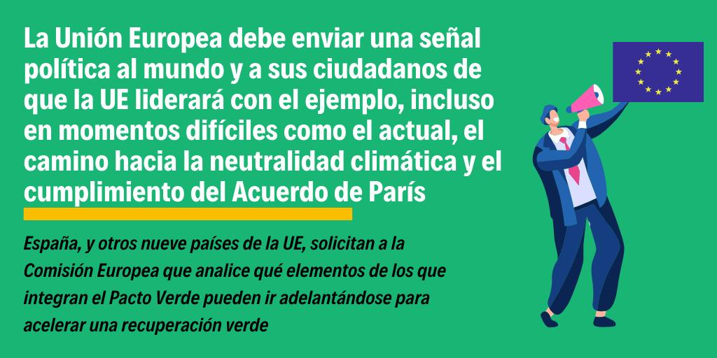 pacto verde crisis economica covid 19 cambio climatico