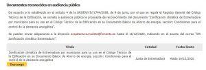Zonificación climatica de Extremadura en audiencia publica