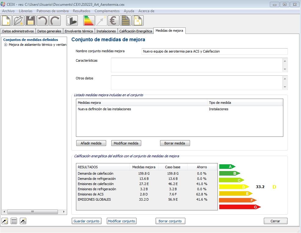 aerotermia mejora de la calificación energética CE3X