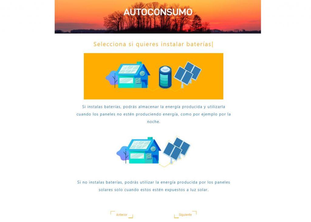 calculadora solar de autoconsumo fotovoltaico baterias