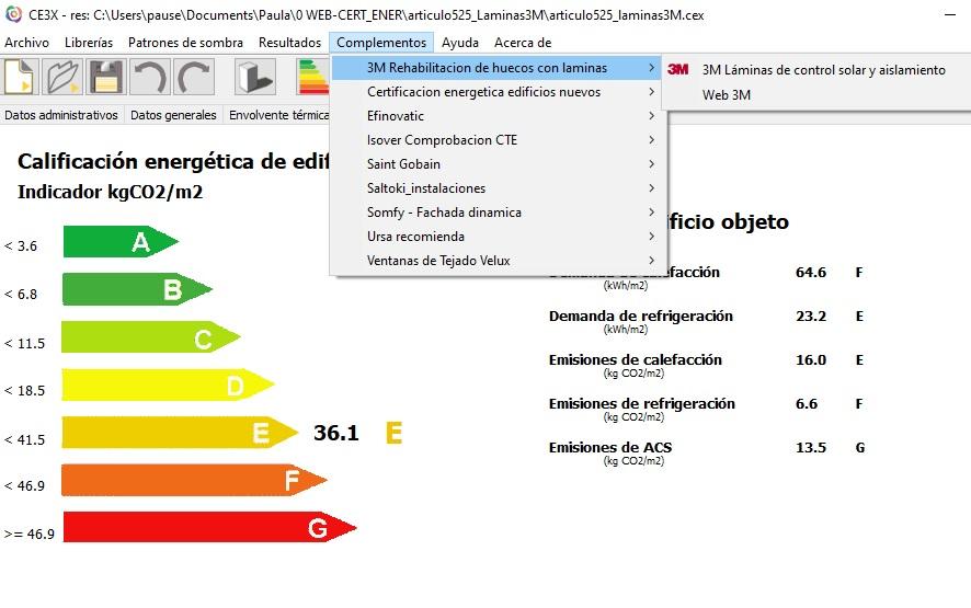 laminas baja emisividad complemento CE3X laminas 3M