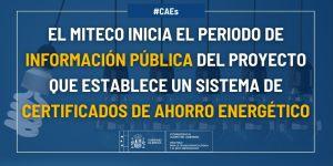 certificados de ahorro energetico CAE