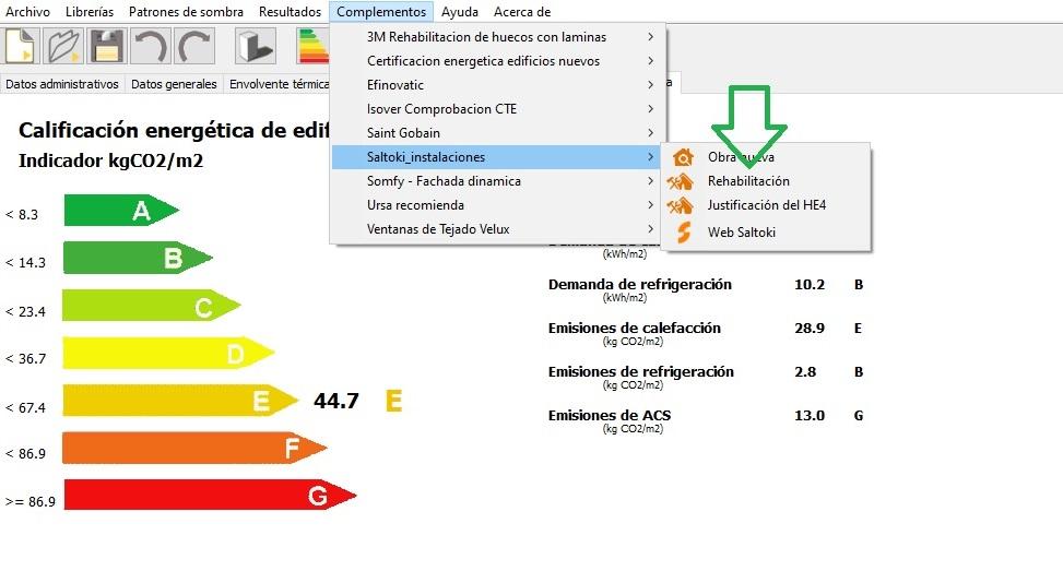 complemento de CE3X de instalaciones Saltoki instalaciones termicas