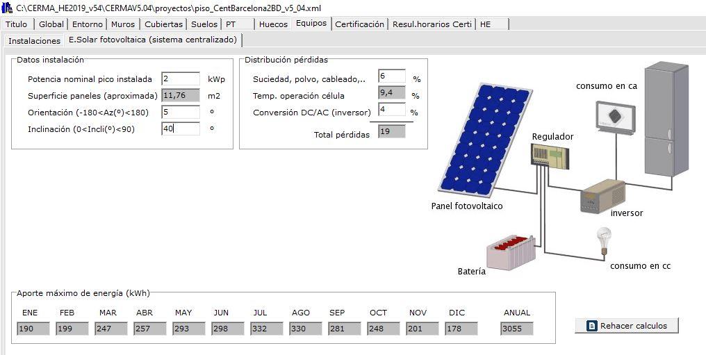 energia solar fotovoltaica calcular energia mensual